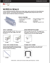 Frameless Shower Wipes and Seals