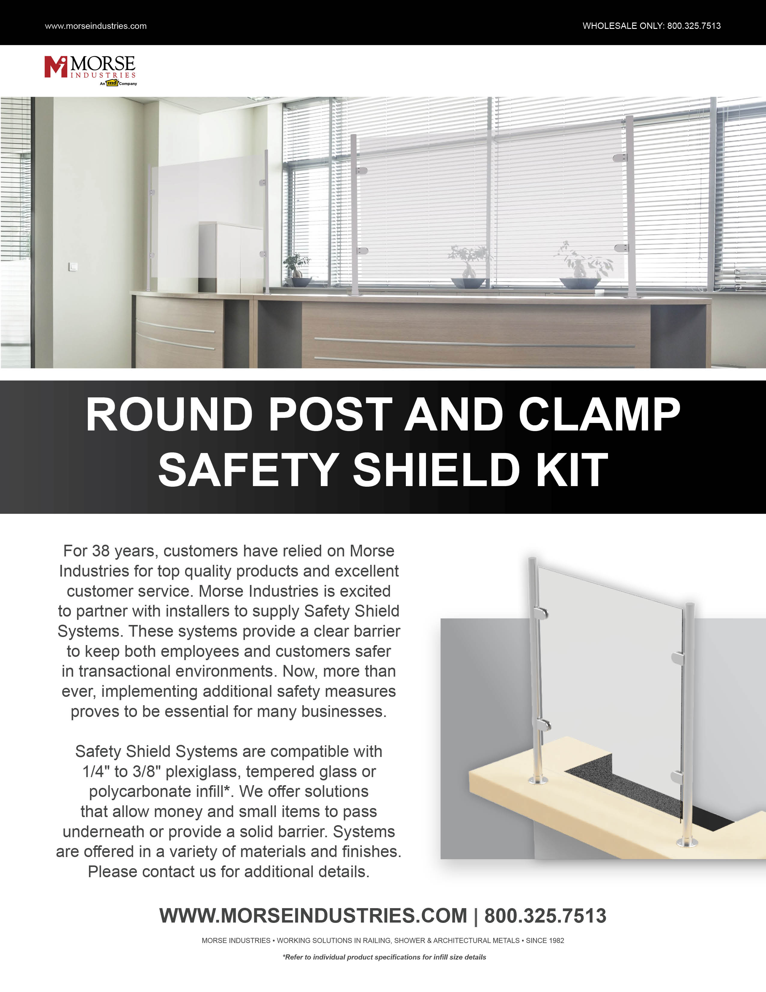 Round Post and Clamp Safety Shield