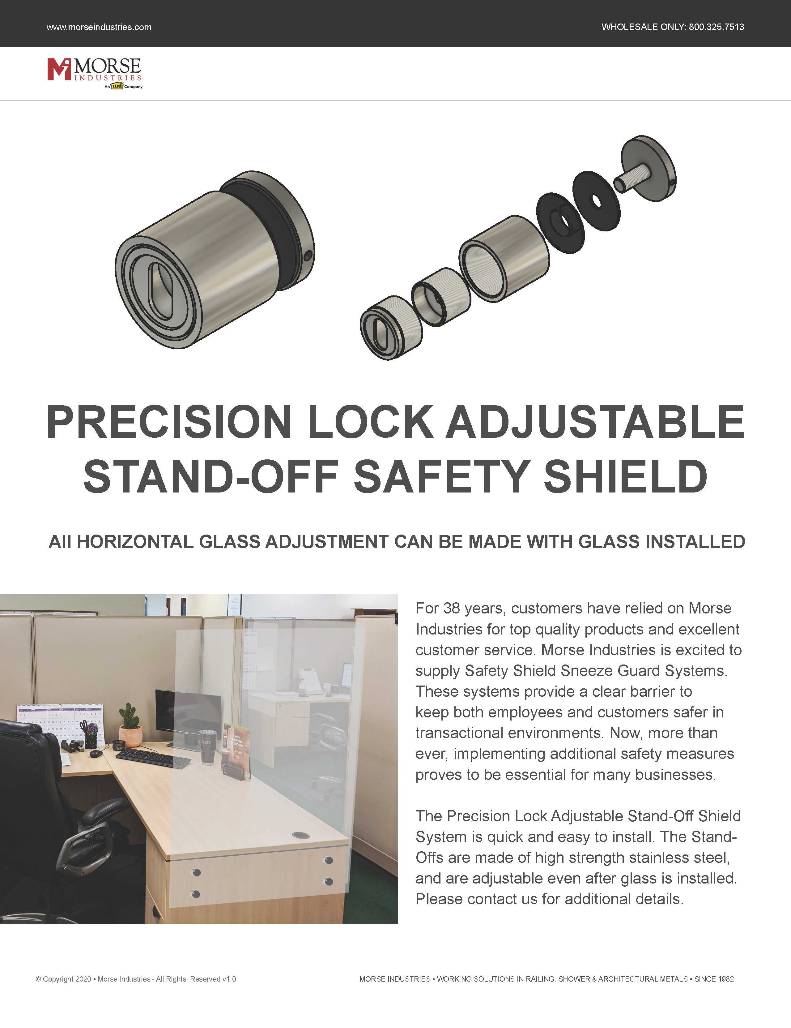 Adjustable Stand-Off Safety Shield